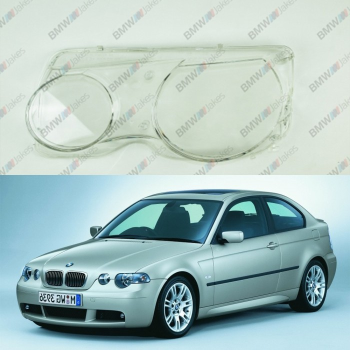 Bmw 3 E46 Compact 2000 2004 Headlight Lens Plastic Covers Left Right Pair