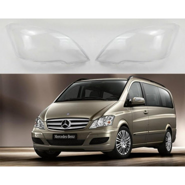Headlight lens covers OEM (EU Quality) for Mercedes Benz Vito (2010-2014) Facelift