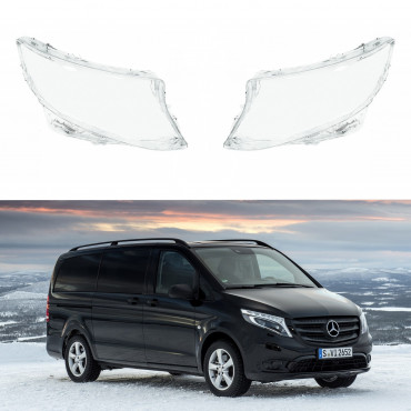 Headlight lens covers OEM (EU Quality) for Mercedes Benz Vito (2014-2019) Facelift