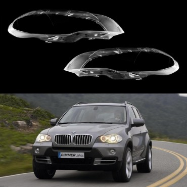 Headlight lens covers OEM (EU Quality) for BMW X5 E70 (2007-2013)