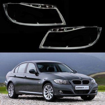 BMW 3 E90 Sedan / E91 Touring (Xenon) - Headlight lens plastic covers