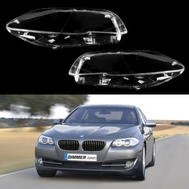 BMW 5 F10/F11 (2009-2013) - Headlight lens plastic covers