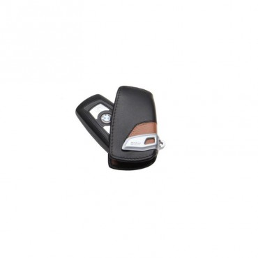 BMW Key Case Lines Brown