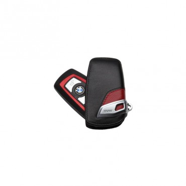 BMW KEY CASE LINES RED