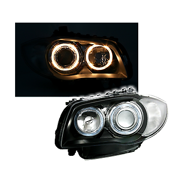 BMW 1 HEADLIGHTS YELLOW...