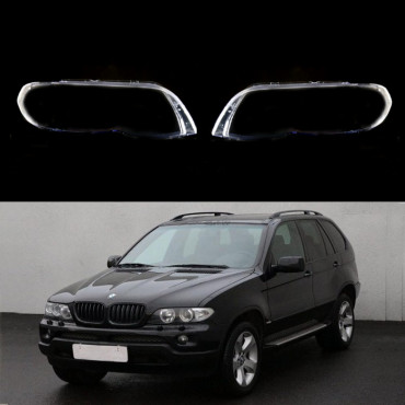 BMW X5 E53 LCI (2004-2007) - Headlight lens plastic covers