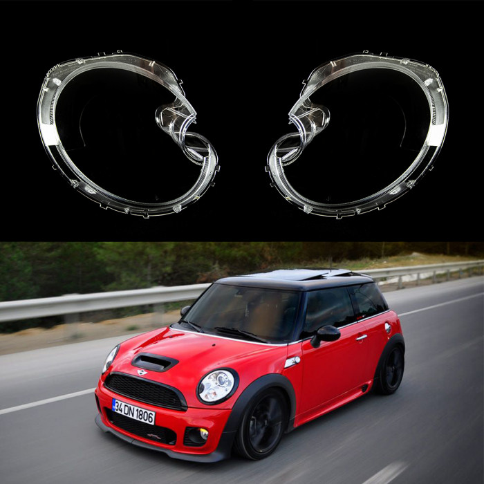MINI COOPER R56 (06-13) - XENON HEADLIGHT LENS COVERS LEFT / RIGHT PAIR