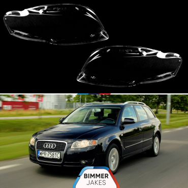 Headlight lens covers OEM (EU Quality) for Audi A4 B7 (2004-2018)