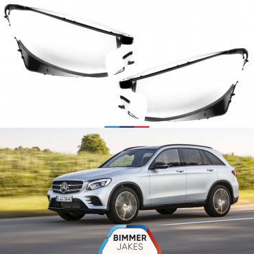 Headlight lens covers OEM (EU Quality) for Mercedes Benz GLC (2016-2018)
