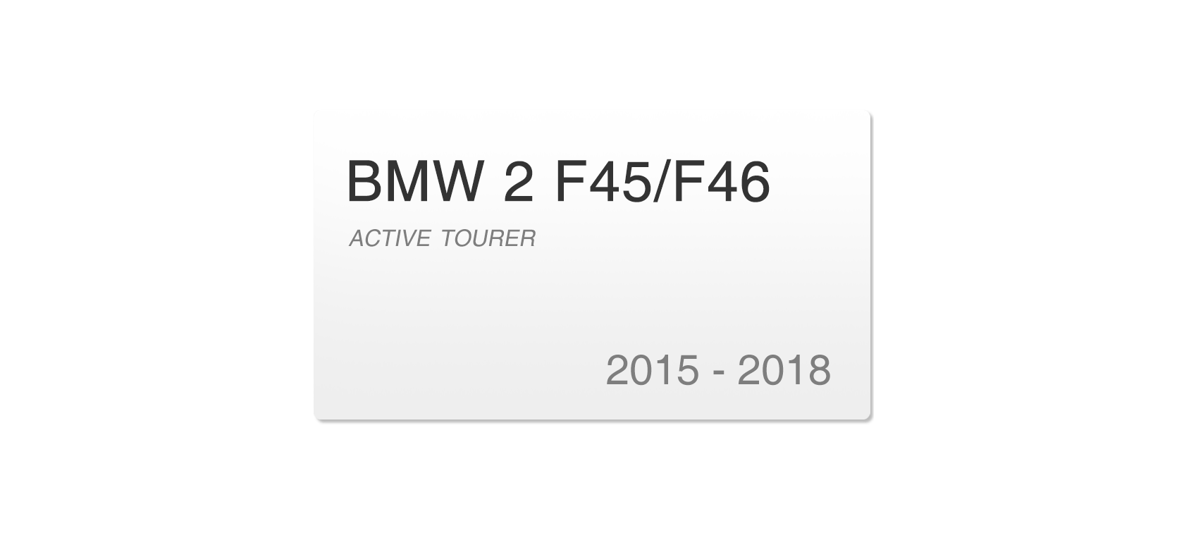 BMW 2 F45/F46 (2015-2018) | Headlight lens plastic covers