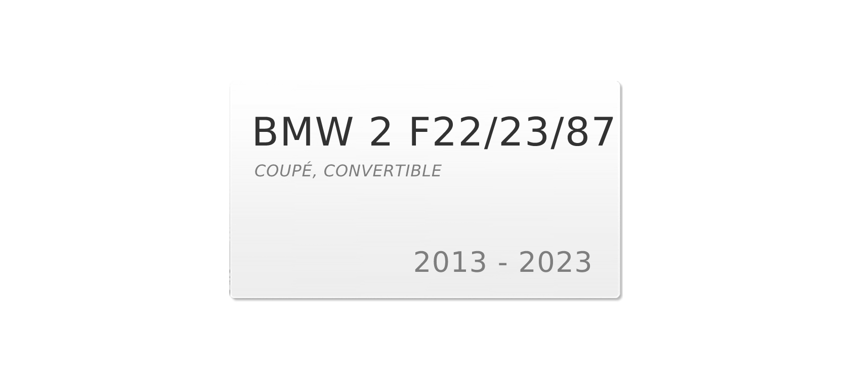 BMW 2 F22/F23 (2013-2018) | Headlight lens plastic covers