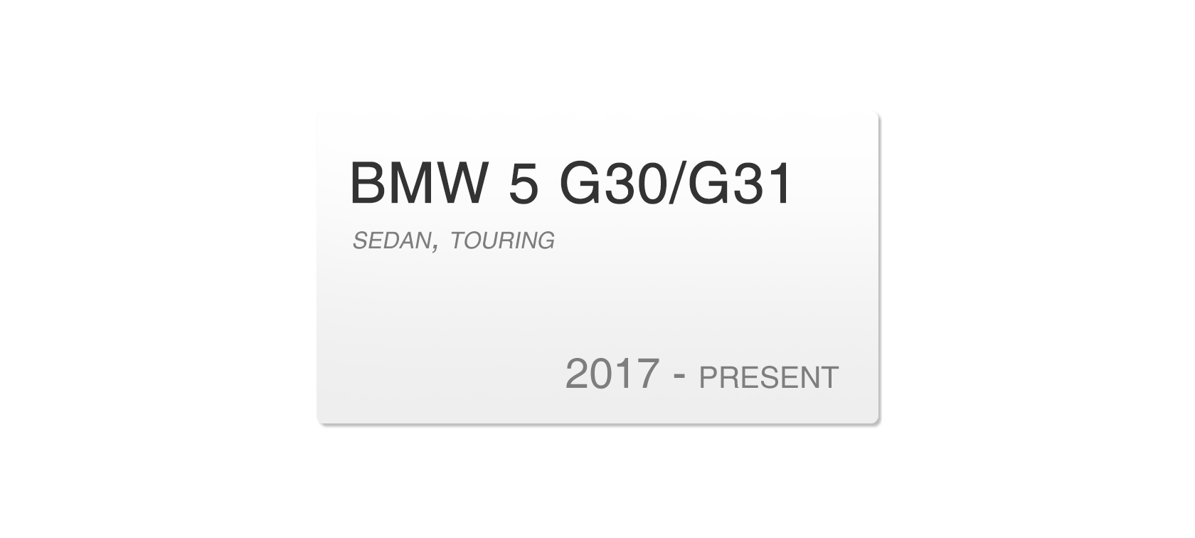 BMW 5 G30/G31 (2017-2018) | Headlight lens plastic covers