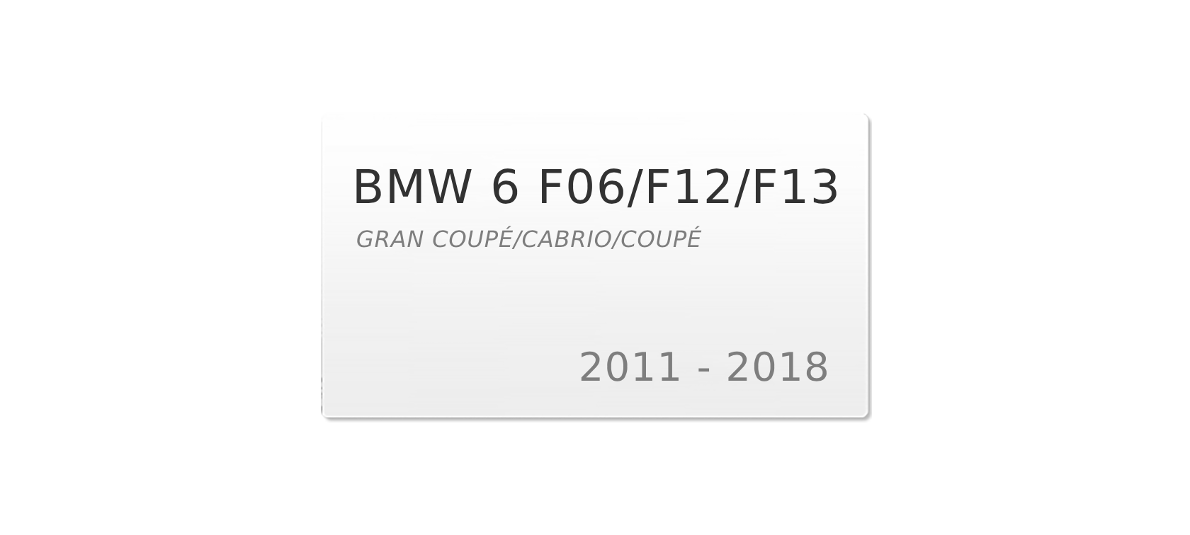 BMW 6 F12/F13 (2010-2018) | Headlight lens plastic covers