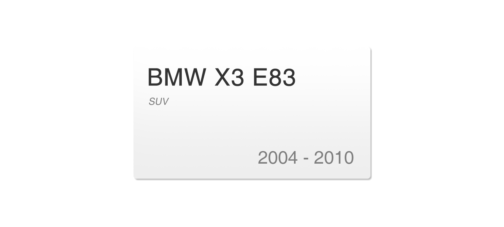 BMW X3 E83 (2004-2010) | Headlight lens plastic covers