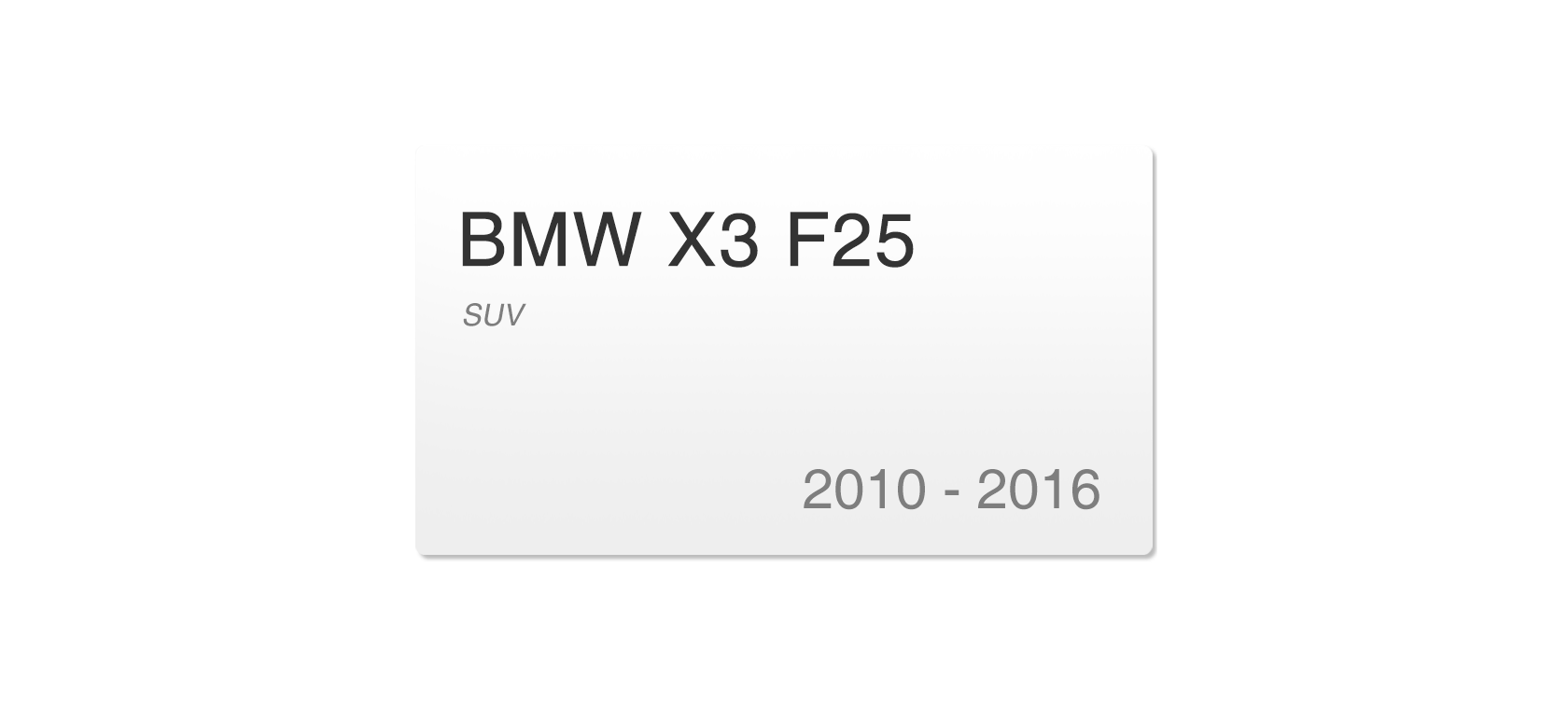 BMW X3 F25 (2010-2016) | Headlight lens plastic covers