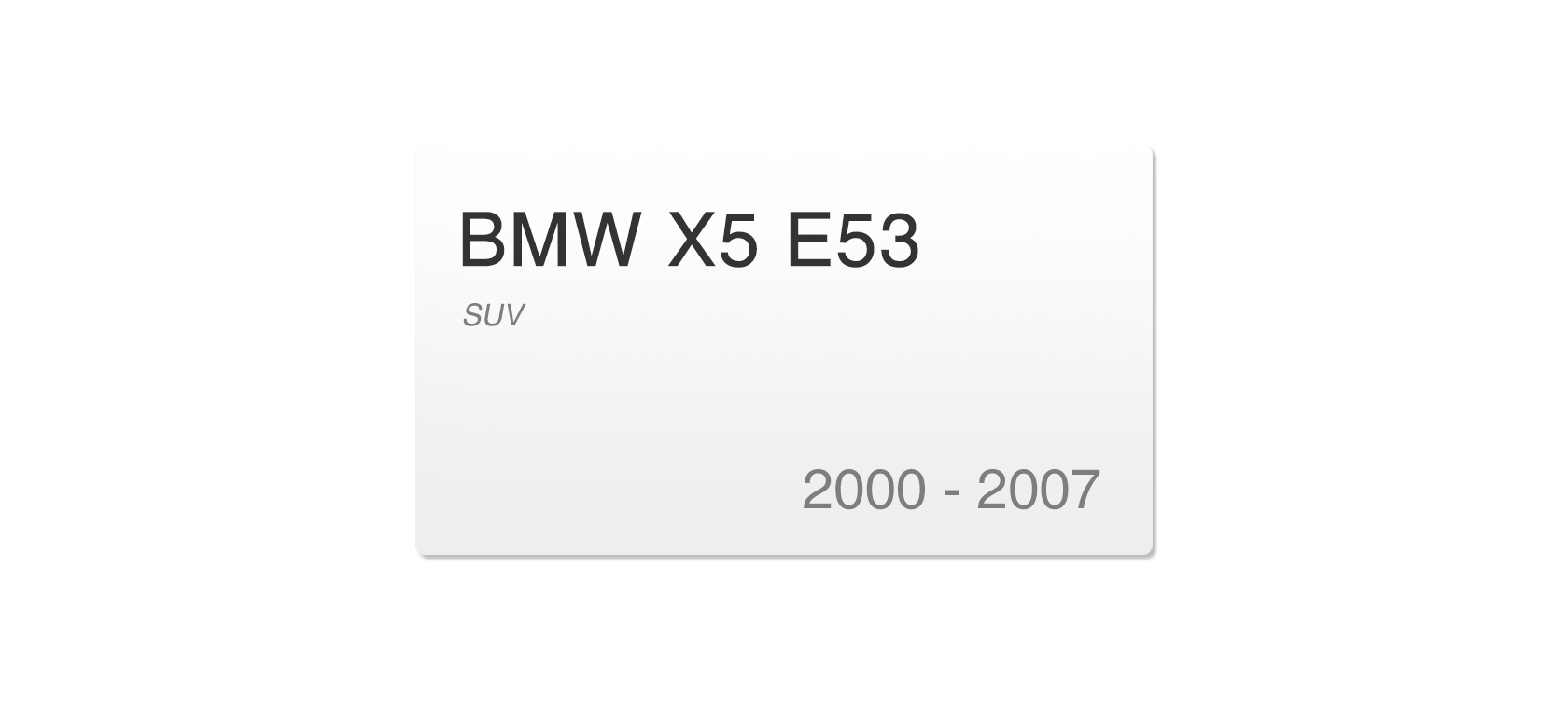 BMW X5 E53 (2000-2007) | Headlight lens plastic covers