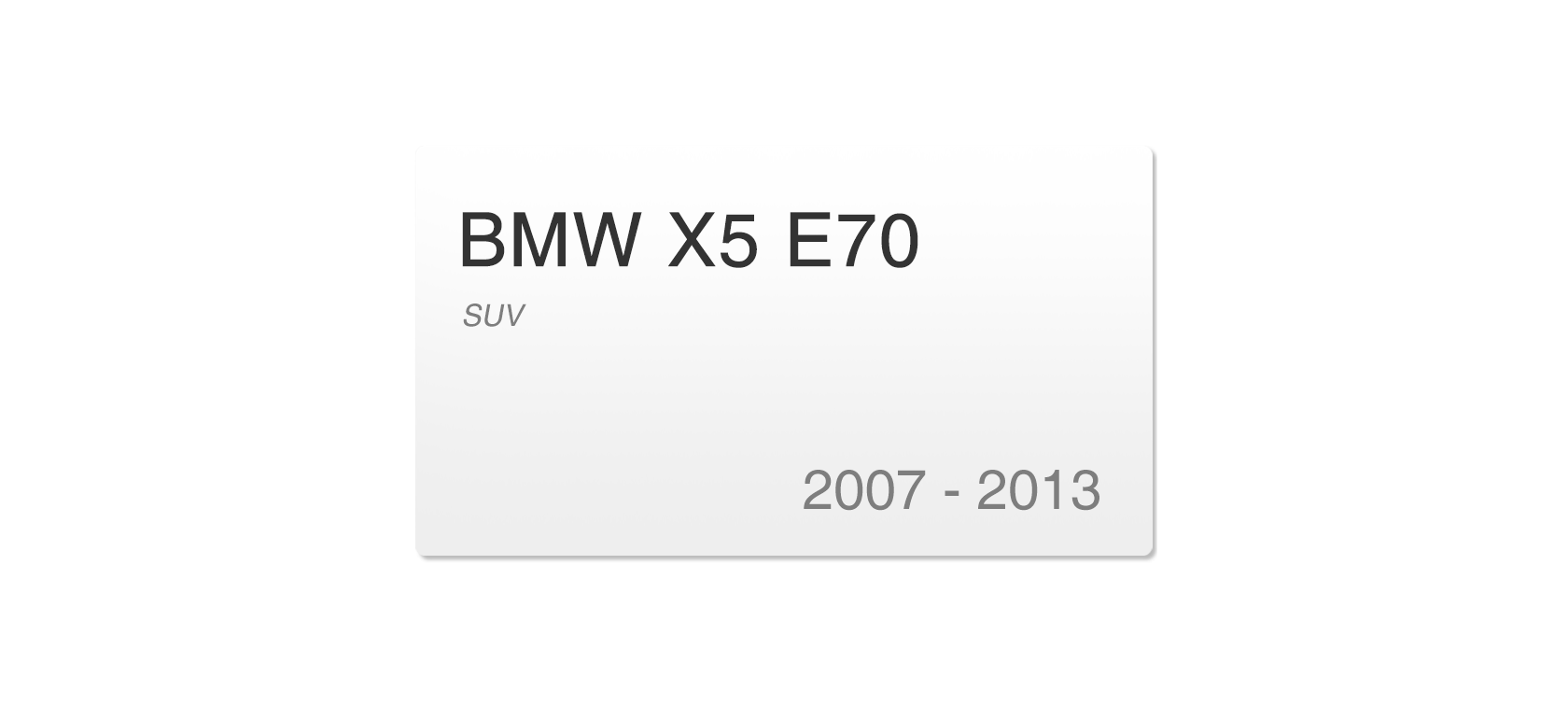 BMW X5 E70 (2007-2013) | Headlight lens plastic covers
