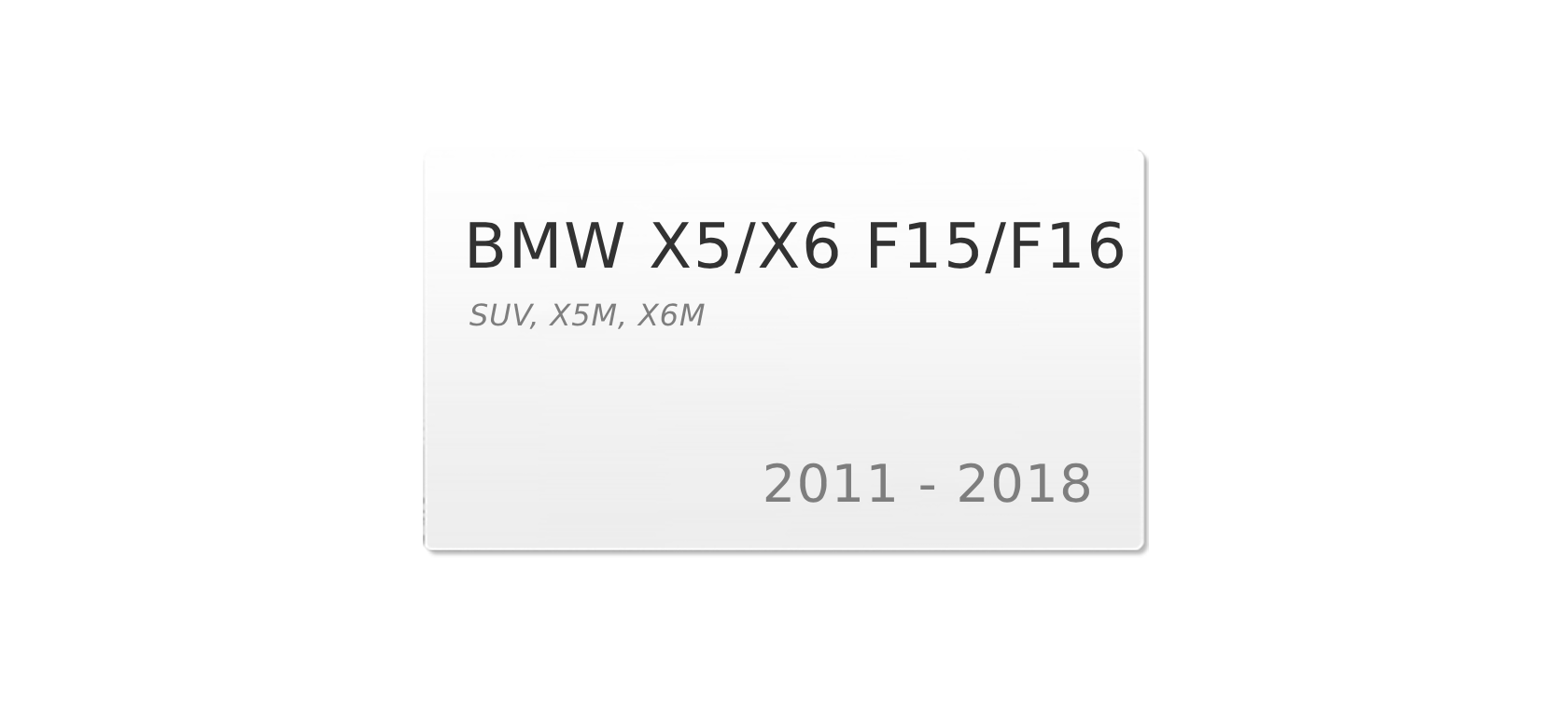 BMW X5 F15 (2013-2018) | Headlight lens plastic covers